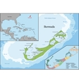 The Bermudas or Somers Isles vector image vector image