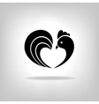 The black stylized cocks on a white background vector image vector image