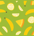 tropical seamless pattern with exotic fresh juicy vector image vector image