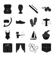 wedding travel sport and other web icon in black vector image vector image