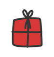 wrapped gift box decoration party icon vector image