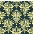 Yellow dainty floral damask seamless pattern vector image vector image