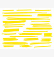 yellow highlight marker brush lines set vector image vector image