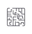 labyrinth linear icon sign symbol on vector image