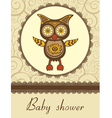 Owl baby shower vector image