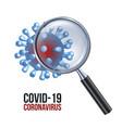 a corona virus seen with a vector image