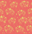 Abstract flowers neon colors pattern tile