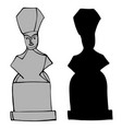 ancient black and white figures vector image