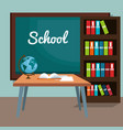back to school classroom scene vector image