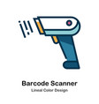 barcode lineal color icon vector image
