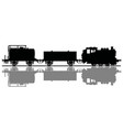 black silhouette a claaasic freight steam train vector image vector image