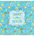 Blurred label on summer beach background vector image vector image
