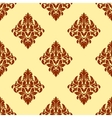 Brown floral damask seamless pattern vector image vector image