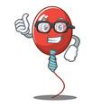 businessman balloon character cartoon style vector image
