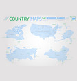 canada russia china and united states america vector image vector image