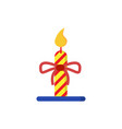 christmas candle light stripe vector image vector image