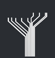 circuit tree futuristic concept vector image