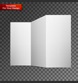close up a leaflet blank white paper vector image