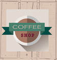 coffee house logo in flat design style on vector image