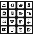Coffee icons set simple style vector image