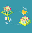 company loan concept isometric vector image