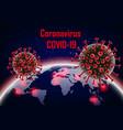 corona virus 2019-ncov with earth wuhan virus vector image vector image