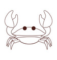 crab beach animal black and white vector image