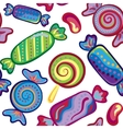 cute seamless pattern with colorful sweets vector image