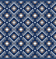 decorative geometric pattern in blue vector image vector image