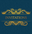 Decorative Invitations Card vector image
