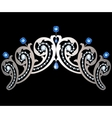 Diadem with diamonds and sapphires vector image vector image