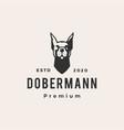Doberman pinscher dobermann hipster vintage logo