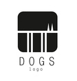 dogs logo vector image vector image