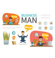 flat business people template vector image vector image