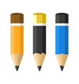 Flat Style Classic Pencils Set vector image vector image