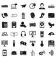 global communication icons set simple style vector image vector image