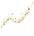 gold glitter wave abstract background golden vector image
