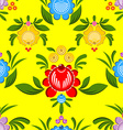 Gorodets seamless pattern Floral ornament Russian vector image vector image