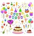 Happy birthday party symbols vector image vector image