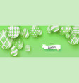 happy easter creative banner with three vector image vector image