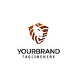 Head lion shiled logo design concept template