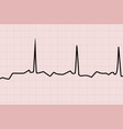 heart line graph vector image