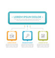 infographic template with 3 steps vector image vector image