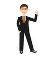 isolarted businessman vector image vector image