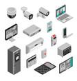 isometric smart home set vector image