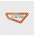 light realistic signage template vector image vector image