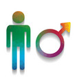 male sign colorful icon with vector image