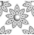 mandala with moon dorwork tattoo symbol vector image