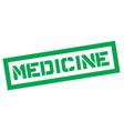 medicine typographic stamp vector image vector image