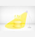 modern art studio yellow light spot emanating vector image vector image